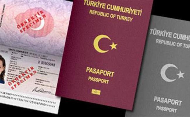 انواع پاسپورت کشور ترکیه