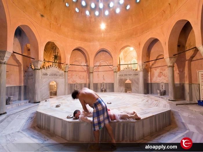 حمام ترکی تلفیق فرهنگ مشترک اسلام و فرهنگ ترک ها