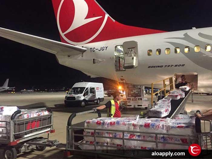 حمل بار در ترکیه با هواپیما