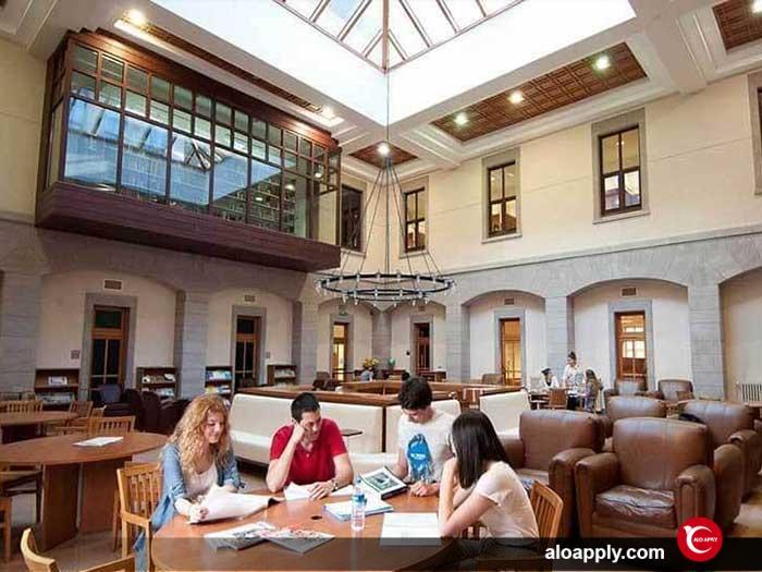 کتابخانه دانشگاه کوچ ترکیه