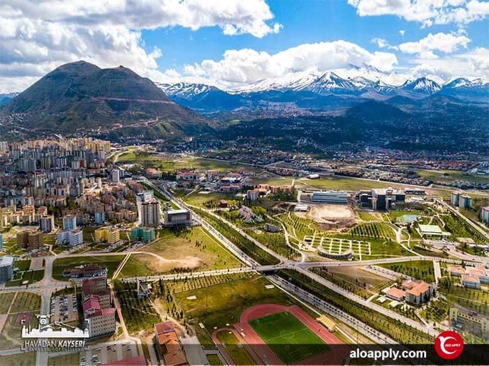 چشم انداز دانشگاه ارجیس ترکیه
