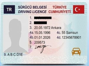 انواع گواهینامه رانندگی ترکیه در سال 2021
