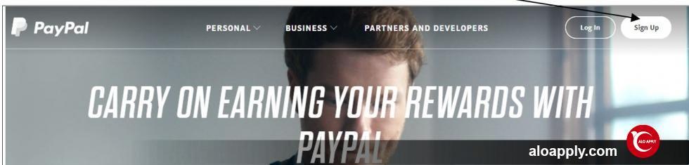 مرحله 1 افتتاح حساب پی پال